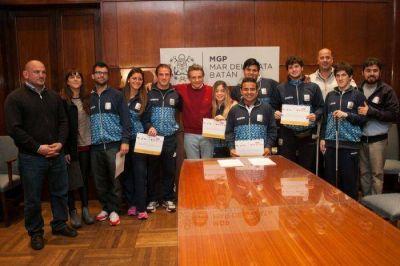 Pulti recibió a los deportistas que participaron de los Parapanamericanos en Toronto