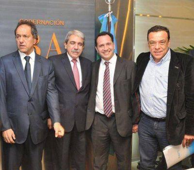 Facundo Celasco participó en reunión con Daniel Scioli y Anibal Fernández