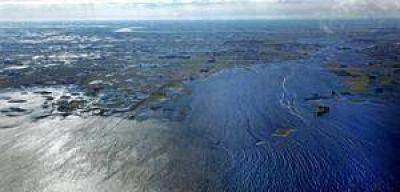Unas 160.000 hect�reas de campos bajo el agua por la crecida del Salado