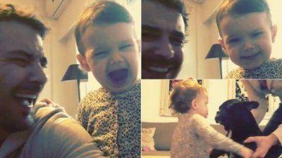 El divertido video de la hija de Paula Chaves y Pedro Alfonso actuando una risa falsa