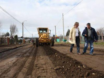 Repararon calles de la región sur