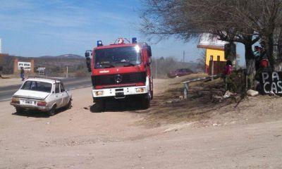 Bomberos combatieron varios focos de incendio en las Sierras y la Ruta 9 Sur