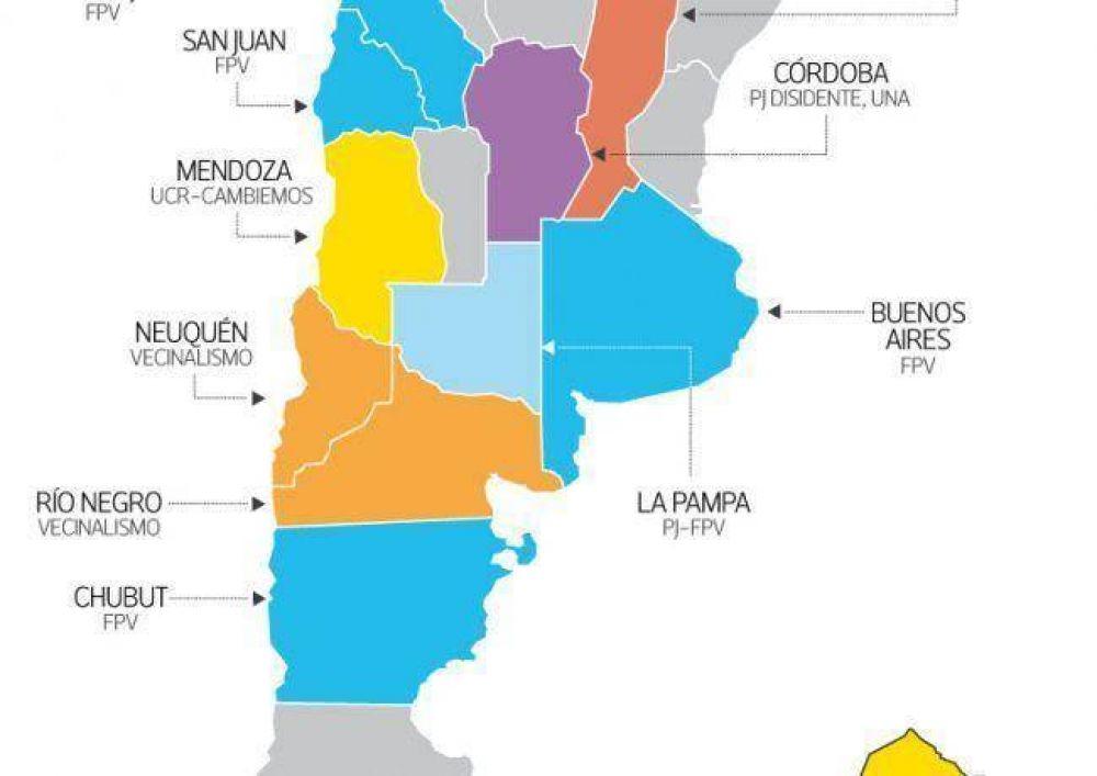 Los oficialismos se revalidaron en 13 provincias