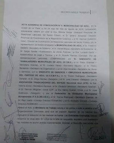 Principio de acuerdo en La Plata para destrabar el conflicto con los municipales