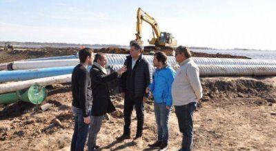 Nación y Provincia desplegaron acciones conjuntas ante el crecimiento del Río Salado