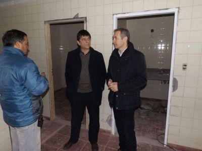 Gasparini y Zarandona recorrieron el sitio donde funcionarán las nuevas oficinas de la delegación del IOMA