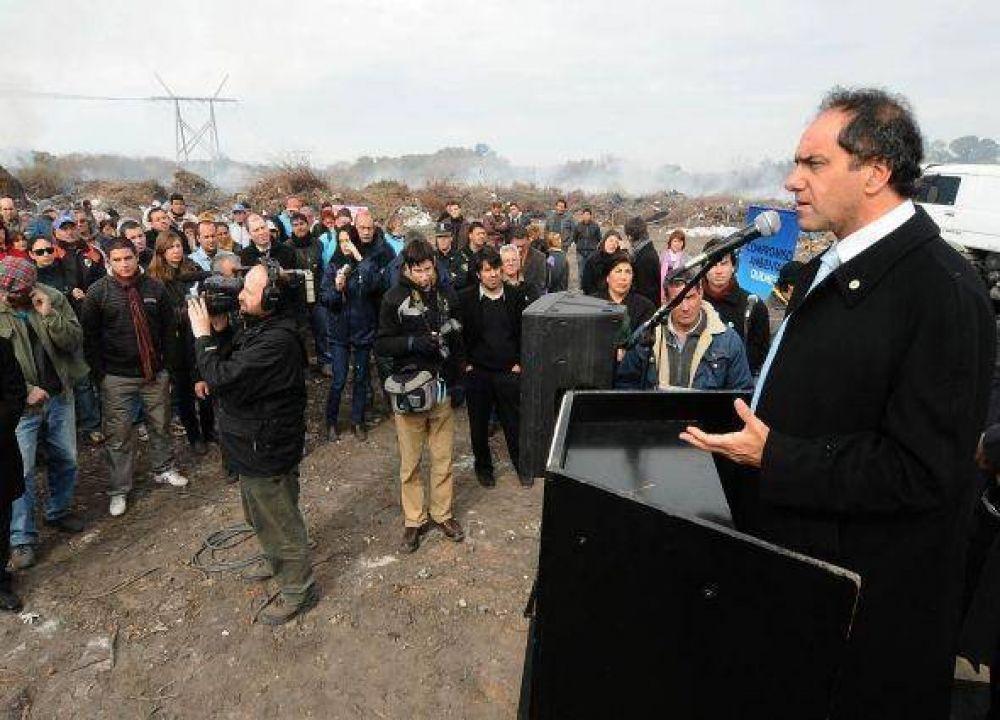 Scioli cerró la quema municipal en la Ribera.