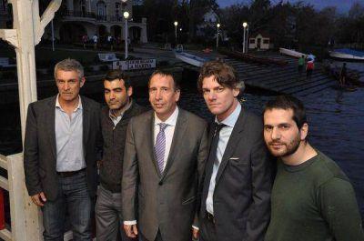 Sergio Szpolski visitó el histórico Club Regatas La Marina de Tigre