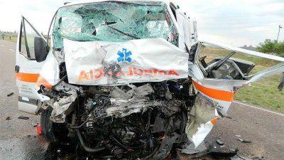 Ocupante de la ambulancia describió cómo ocurrió el trágico choque en ruta 12