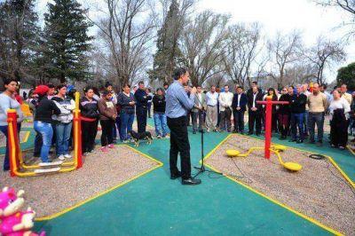 Juan Jorba: inauguraron las obras de reacondicionamiento del acueducto ganadero