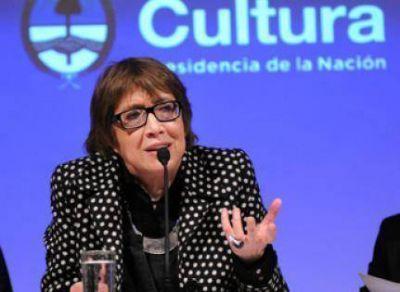 La ministra de Cultura, Teresa Parodi, en Tandil