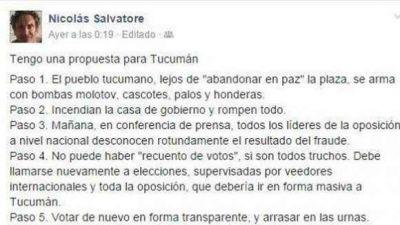 José Cano reconoció que un asesor suyo llamó a quemar la Casa de Gobierno