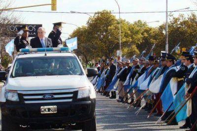 Jorge encabezó el acto por el Día de la Policía