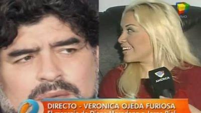 Verónica Ojeda desafió a Maradona y criticó fuerte a Oliva