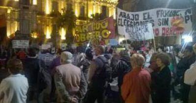 Tras ocho días de protestas, los indignados no se manifestaron
