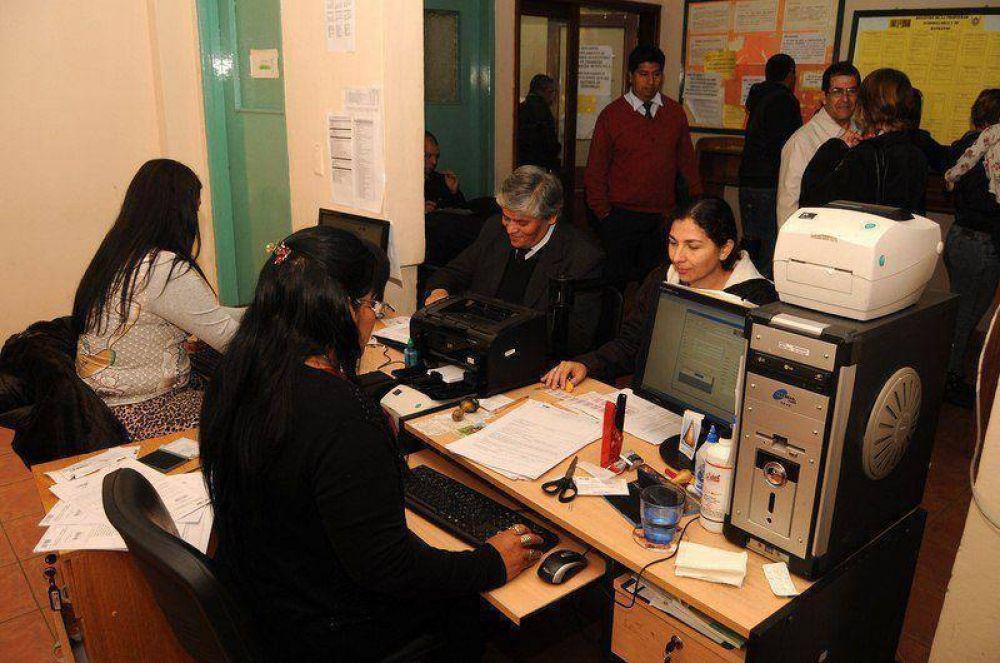 Paro de empleados en el Registro de la Propiedad