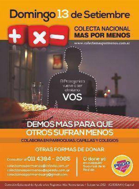 Mons. Dus: Más por Menos, la solidaridad propuesta de modo abierto y generoso