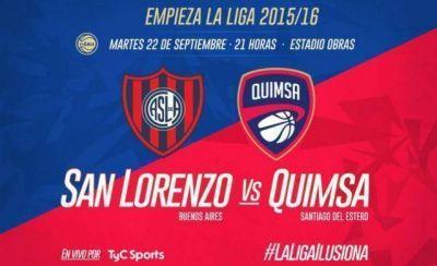Quimsa y San Lorenzo abren la Liga