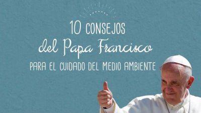 10 consejos del Papa Francisco para cuidar el medioambiente