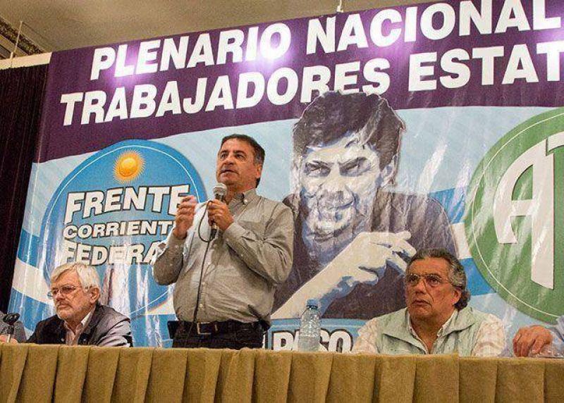 En víspera a la llegada de CFK a Río Turbio, Edgardo Depetri salió último con su lista Verde y Blanca de ATE