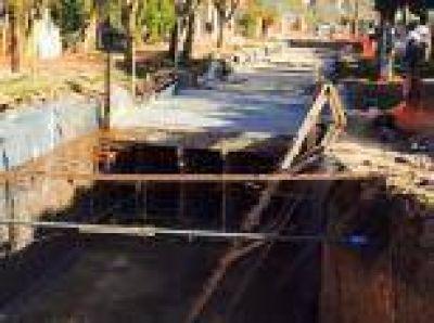 Obra hidráulica en La Plata: Se ejecutaron $ 980 millones