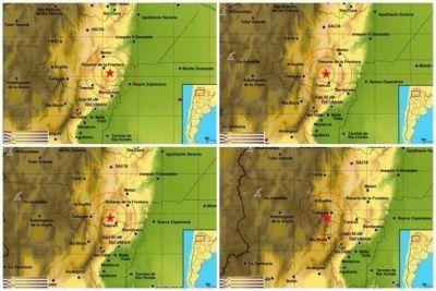 En una hora: 4 sismos en el límite entre Salta, Tucumán y Catamarca