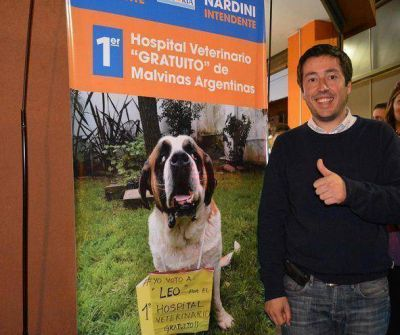 Nardini impulsa el primer Hospital Veterinario en Malvinas Argentinas