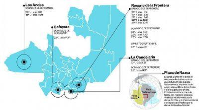 En tres días hubo 14 sismos en Salta