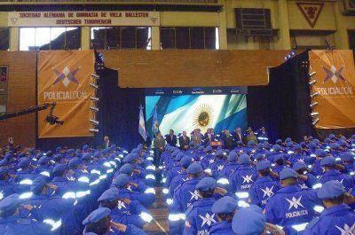 Scioli y Katopodis en el egreso de la Policía Local de General San Martín