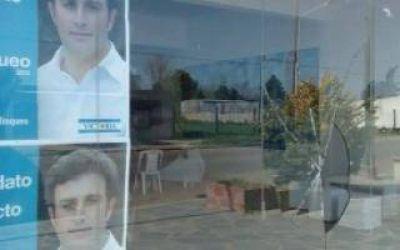 Atacaron el local del candidato a Intendente del FPV en 25 de Mayo
