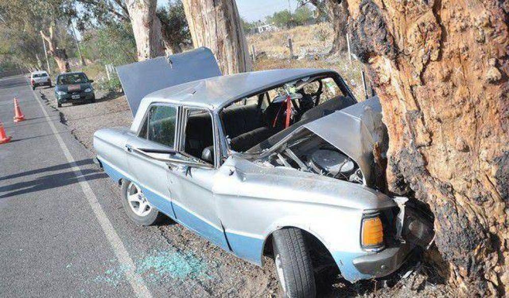 Un auto se estrelló contra un árbol: el conductor y 3 niños heridos