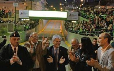 San Fernando: Andreotti inauguró el Túnel de la avenida Avellaneda