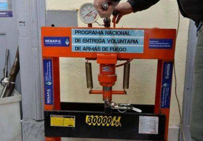 El puesto del Renar recibió 129 armas y 2.800 municiones, en Paraná