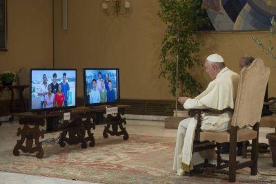 El Papa, a través de Scholas, juntó a estudiantes de Cuba y Estados Unidos