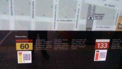 Llegaron los códigos QR al Metrobús Norte