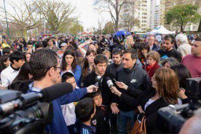 Kicillof volvió con las recorridas en la Ciudad