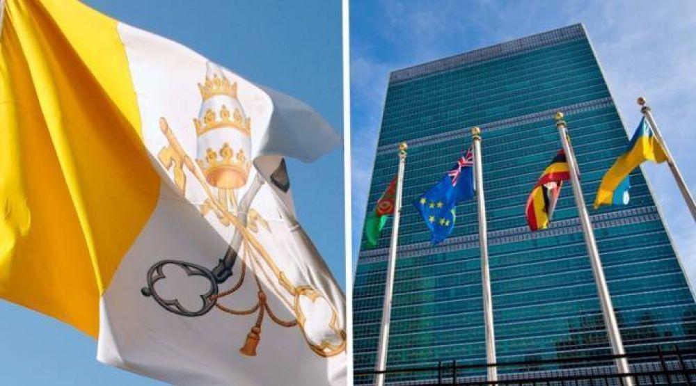 Bandera del Vaticano será izada por primera vez en la ONU por visita del Papa Francisco