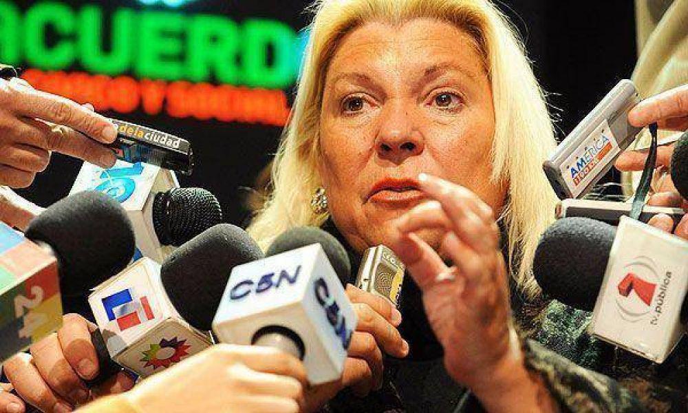 """Carrió volvió a decir que """"el diálogo es una mentira"""" y señaló que """"el radicalismo dice que ha fracasado"""""""