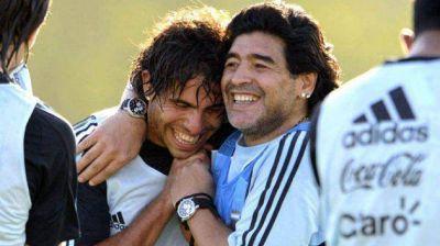 Diego Maradona saludó a Ezequiel Ham, respaldó a Carlos Tevez y cargó contra