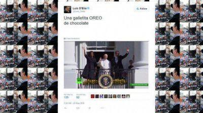 Polémico tuit de Luis D'Elía sobre una foto del papa Francisco y Barack Obama
