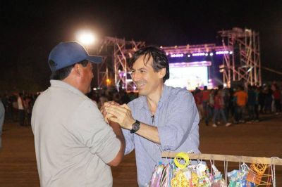 Naidenoff presente en el aniversario de Pozo del Tigre
