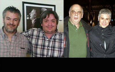 Presidentes de la UCR de Santa Cruz y del comit� de Calafate, abrazados con Pablo Gonz�lez y M�ximo Kirchner