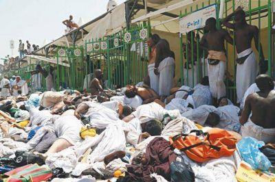 Más de 700 muertos y 863 heridos dejó una avalancha de peregrinos en La Meca