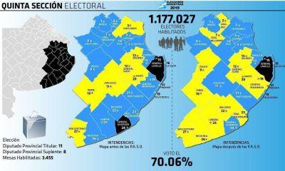 Con 97 candidatos, la Quinta define su color político