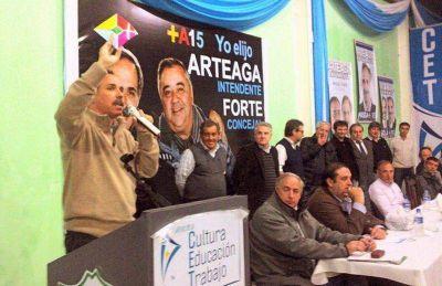 El Frente Renovador se mostró unido para respaldar la candidatura de Arteaga