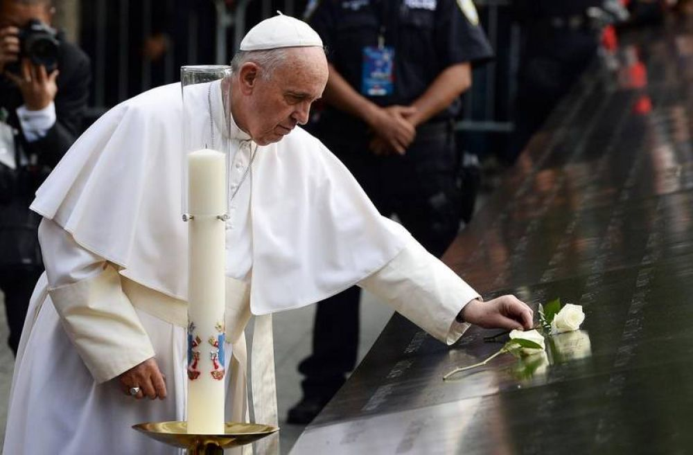 """Papa Francisco en """"Ground Zero"""" recuerda «la bondad heroica»"""