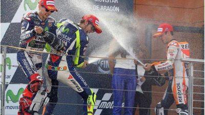 Lorenzo acortó distancias con Rossi en la pelea por el título de Moto GP