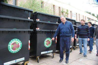 Baradero ya cuenta con otros 50 contenedores para residuos.