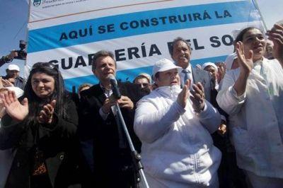Pulti participó del acto de entrega de tierras para la guardería del SOIP