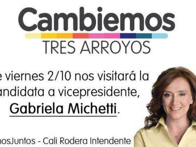 Gabriela Michetti visitará Tres Arroyos el viernes próximo